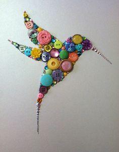 Button+Hummingbird+Button+Art+&+Swarovski+Crystal+by+BellePapiers,+$89.00