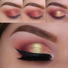 Hot pink eye makeup idea