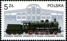 Stamp: and Chrznow factory, 1920 (Poland) (Locomotives in Poland) Mi:PL 2402 Old Stamps, Vintage Stamps, Trains, Tampons, Locomotive, All Over The World, Transportation, History, Club