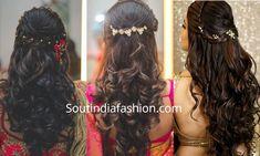 indian wedding reception hairstyles