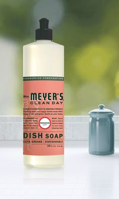 Enjoy a sparkling clean and an inspiring scent when you keep a bottle of Mrs. Meyer's Clean Day Geranium Dish Soap by your sink. The refreshing floral makes doing the dishes downright delightful.