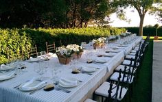 Mesa Larga - Montealegre - finca bodas Madrid - http://www.buscabodas.com
