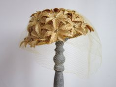 1950s Hat / Vintage 1950s Fascinator Hat / by TulleandTiaraVintage, $36.00