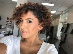Short curly bob/pixie cut