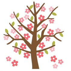 Scrapbooking Spring SVG | Spring Tree SVG cutting file for scrapbooking