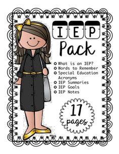 What is an IEP?Words to RememberSpecial Education Acronyms IEP Summaries IEP Goals IEP Notes