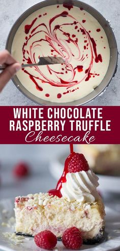 One of the most popular Cheesecake Factory recipes is now right at your fingertips! This homemade version is made with an Oreo chocolate crust, creamy raspberry swirled cheesecake topped with white chocolate shavings and garnished with whipped cream, fres Cheese Cake Factory, Mini Cakes, Cupcake Cakes, Food Cakes, Cupcake Ideas, Köstliche Desserts, Dessert Recipes, Baking Recipes, Easy Recipes