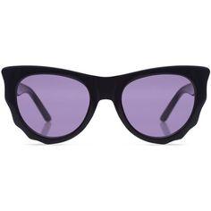 Ksubi - BATCAT thick frame sunglasses (€220) ❤ liked on Polyvore featuring accessories, eyewear, sunglasses, retro cat eye sunglasses, retro sunglasses, cat-eye glasses, ksubi eyewear and cat eye sunglasses