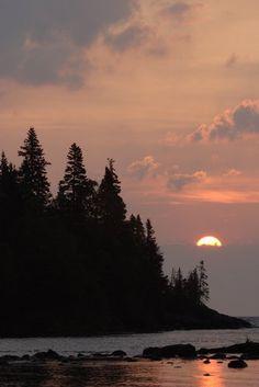 Sunrise in Isle Royale National Park, Lake Superior, Michigan