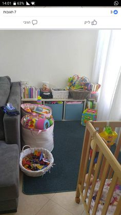 Small Space Play Area Idea In 2019 Living Room Playroom Kids Play Corner, Toddler Play Area, Baby Play Areas, Toddler Rooms, Living Room Playroom, Baby Playroom, Baby Room Decor, Kids Room, Small Apartment Living