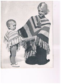 Vintage 70's KNIT/ CROCHET PATTERN Woman and by SparrowFinds