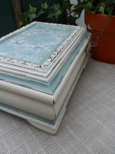 Upcycled Jewelry Box Refurbished and Painted by TreasuresbyMarylou, $40.00