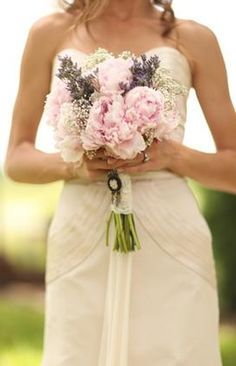 peony and lavender bouquet - Google Search