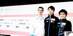 heltra91:  Javier Fernandez, Yuzuru Hanyu and Shoma Uno Grand Prix Final 2015