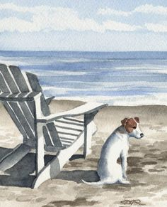 JACK RUSSELL TERRIER Dog Signed Art Print by by k9artgallery, $12.50