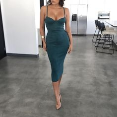 Deep Teal Mandy Suede Bustier Dress