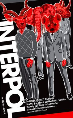 Interpol concert poster