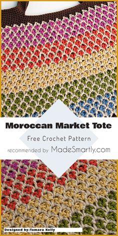 Moroccan Market Tote - Free Crochet Pattern