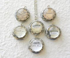 Game of Thrones Westeros Map Petite Locket  - King's Landing, The Wall, Winterfell, Pentos or Choose your Landmarks
