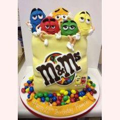 """Детский торт """"Друзья m&m"""""""