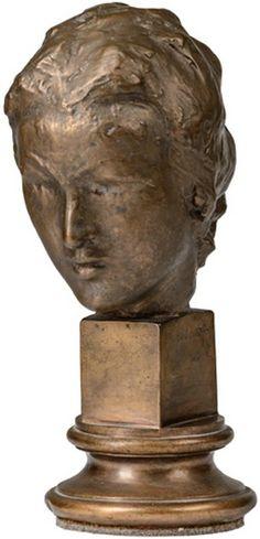 Makovský Vincenc (1900-1966) | Hlava dívky I, 1942 | Aukce obrazů, starožitností | Aukční dům Sýpka Bronze, Sculpture, Statue, Art, Art Background, Kunst, Sculptures, Performing Arts, Sculpting