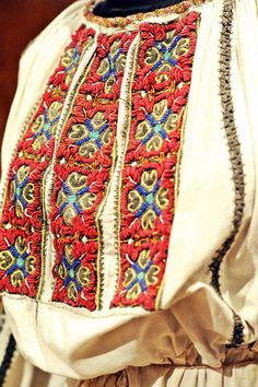 Take the Romanian Traditional Indian Embroidery, Folk Embroidery, Learn Embroidery, Hand Embroidery Designs, Embroidery Patterns, Embroidery Stitches, Contemporary Decorative Art, Victoria Secret Swimwear, Handbags Online Shopping