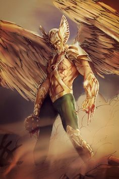 """The Savage Hawkman"" by Bret Booth & Sarah Christina (Forty-Fathoms) 