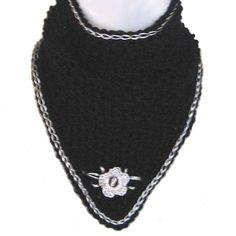 Black & Silver Triangle Scarf Cowl Collar