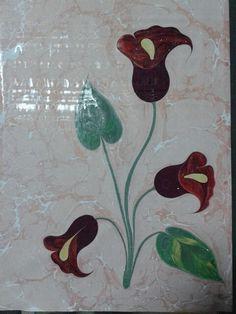 Gala çiçeği.  Marbling art.  Ebru Sanatı.