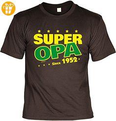 T-Shirt zum Geburtstag: Super Opa since 1952 - Tolle Geschenkidee - Baujahr 1952 - Farbe: braun (*Partner-Link)