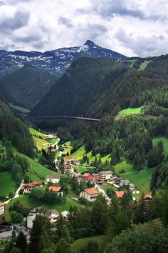 Tyrol, Austria, with the Europe-bridge in the background - en route to Italy