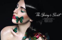 """Editorial """"THE SPRING'S SECRET"""" by Maëva Anne-Blanche. www.maeva-anneblanche.com"""