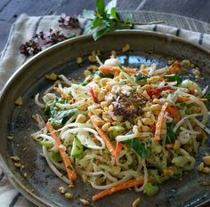 Cucumber Noodles with Thai Basil Dressing