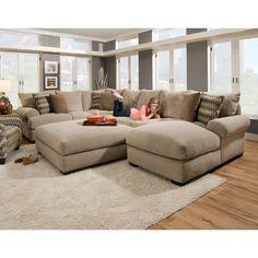 Bacar Living Room - RAF Chaise, Armless Sofa, LAF Sofa with Corner, Ottoman - Sectional (61ABACARMID) | Conn's HomePlus