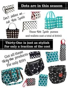 Dots are in!  Thirty-one Gifts Fall 2013  www.mythirtyone.com/313494 www.facebook.com/mythirtyoneJennifer
