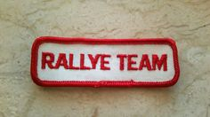 1970s Vintage RALLYE TEAM Patch New Old Stock Motorcycles NASCAR pit crew uniform sew-on racing collectible by TheHartyHoca on Etsy