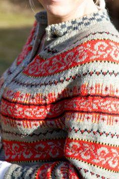 Livs Lyst: *HAUKELIKOFTE* Easy Knitting Patterns, Knitting Projects, Crochet Patterns, Simple Knitting, Knitting Stiches, Norwegian Knitting, Dere, Fair Isle Pattern, Fair Isle Knitting