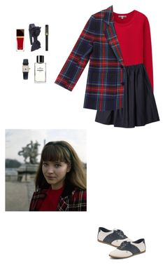 Anna Karina in Plaid by treehugger38 on Polyvore featuring polyvore, fashion, style, Uniqlo, Organic by John Patrick, Sperry Top-Sider, Cartier, Lancôme, Chanel, vintage, VintageInspired, plaid, 1960s, annakarina and FrenchStyle