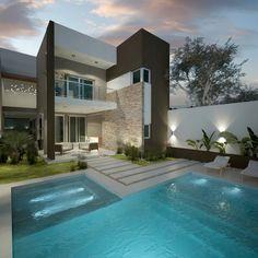 Mirá imágenes de diseños de Piletas estilo moderno: Diseño de patios pequeños con piscina . Encontrá las mejores fotos para inspirarte y creá tu hogar perfecto.