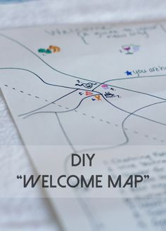 """Make a """"New to Town"""" gift basket and welcome map for neighbors, friends. ReluctantEntertainer.com"""