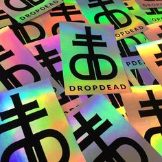 FREE iridescent eggshell stickers with every live printed tee / tote at @dropdeadofficial London store this weekend. Stickers lovingly hand #screenprinted by the legendary @greyjampress WHILE STOCKS LAST.  #printspotters #printisntdead #stickers
