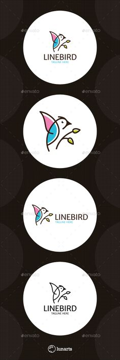 Bird Logo  — EPS Template #kindergarten logo template #freedom #social logotype…