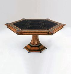 Mahogany Game Table, Furniture, Mahogany Cocktail Table and Chairs - Maitland-Smith - Custom Furniture Maker