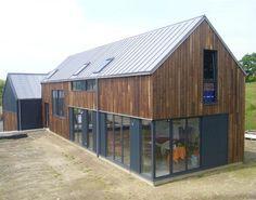 ouverture, toit bardage vertical