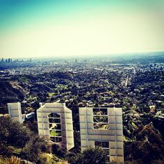 View from the Hollywood Sign, #LA.