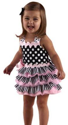 Amazon.com: Mud Pie Tres Jolie Ribbon Ruffle Sundress , Black/White, 2-3T: Clothing