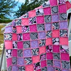 Tutorial for lovely soft and snuggly rag quilts