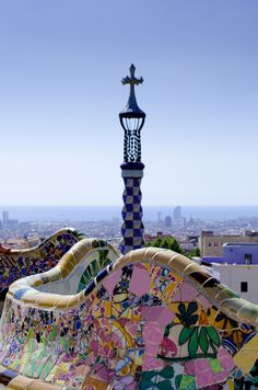 Park Guell by Antoni Gaudi - Barcelona, Spain