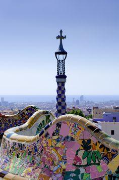 Park Guell by Antoni Gaudi - Barcelona, Spain