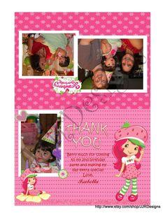 Strawberry Shortcake Thank You Card